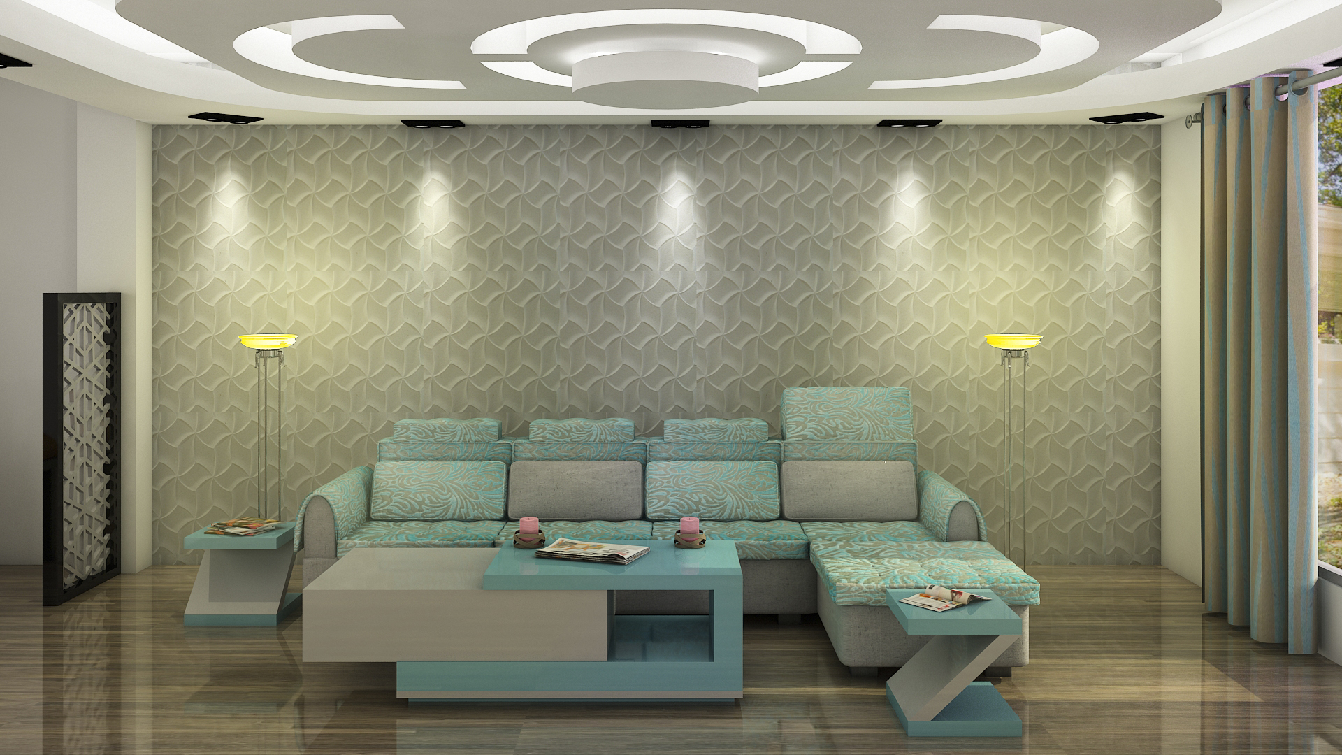 greenish texture Wall Painting ideas