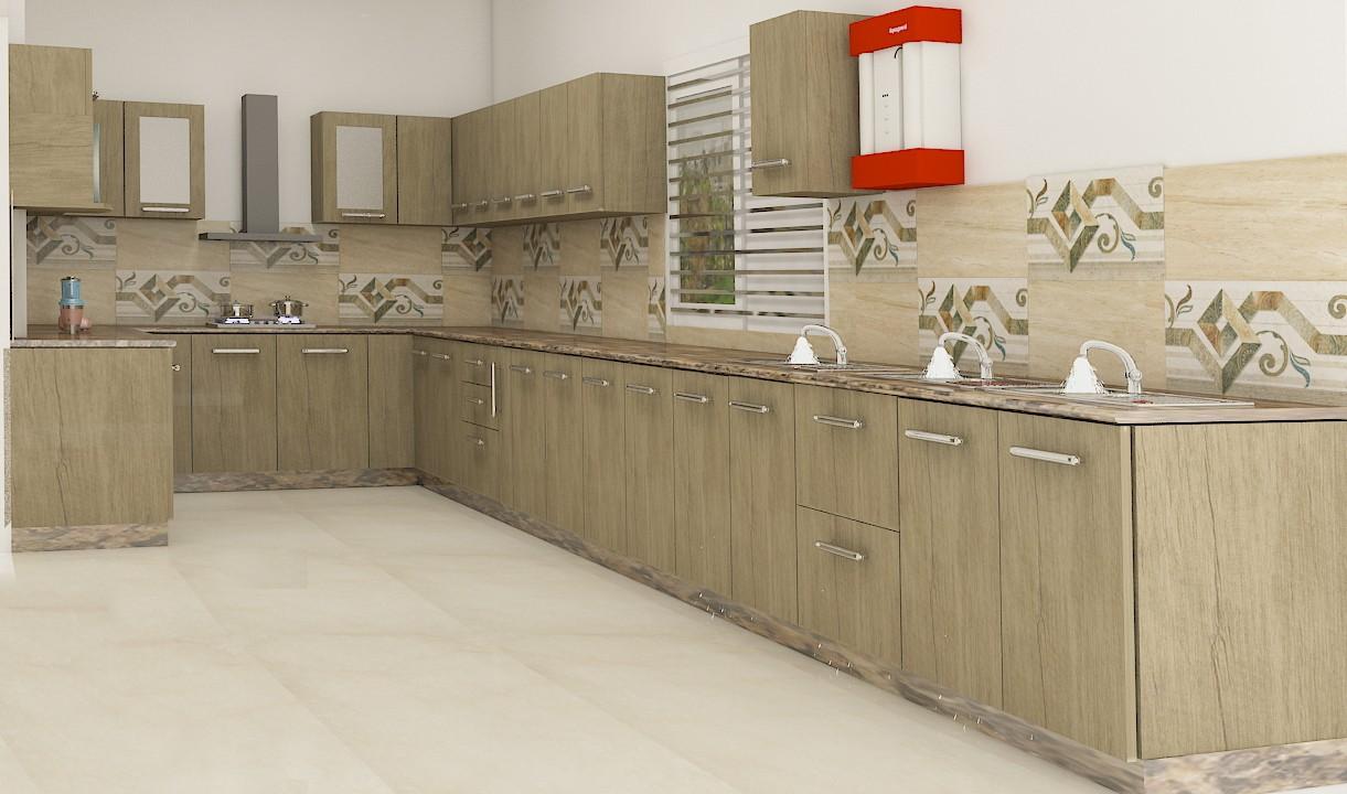 woodern modular kitchen interior designer sitapur
