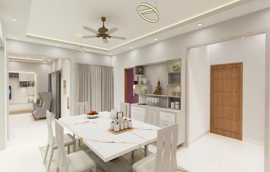 white and light living room interior design