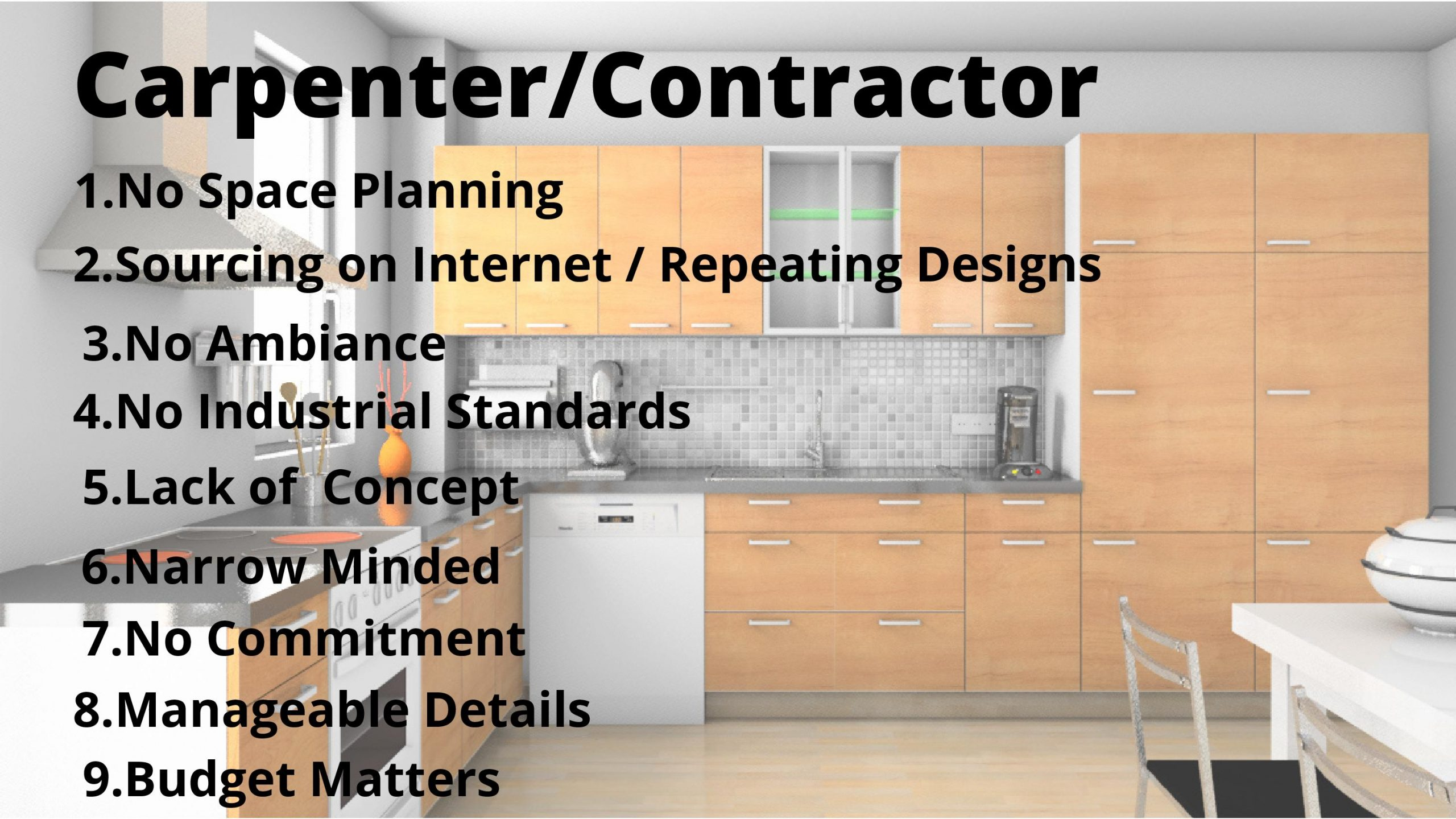 carpentor made kitchen design in lucknow