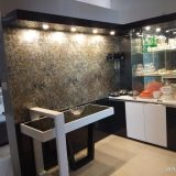 brown colur with light Interior decorator