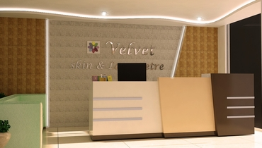 reception area commercial interior design