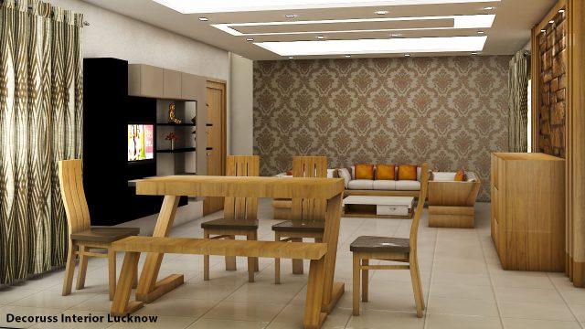 wooden texture living room after hiring an interior designer