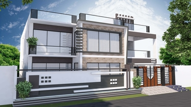Front elevation service for buildings