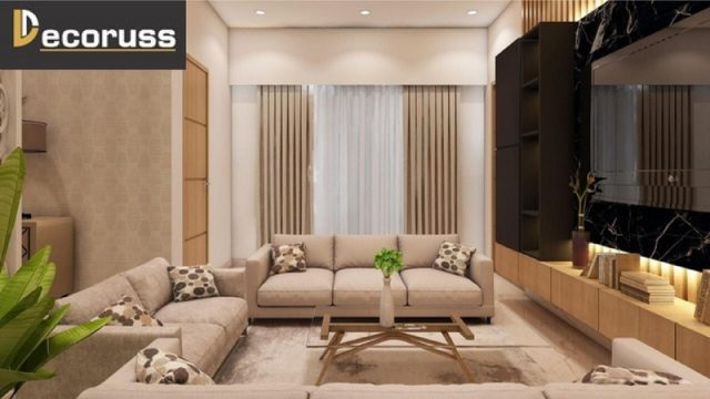 interior design cost for living room Lucknow