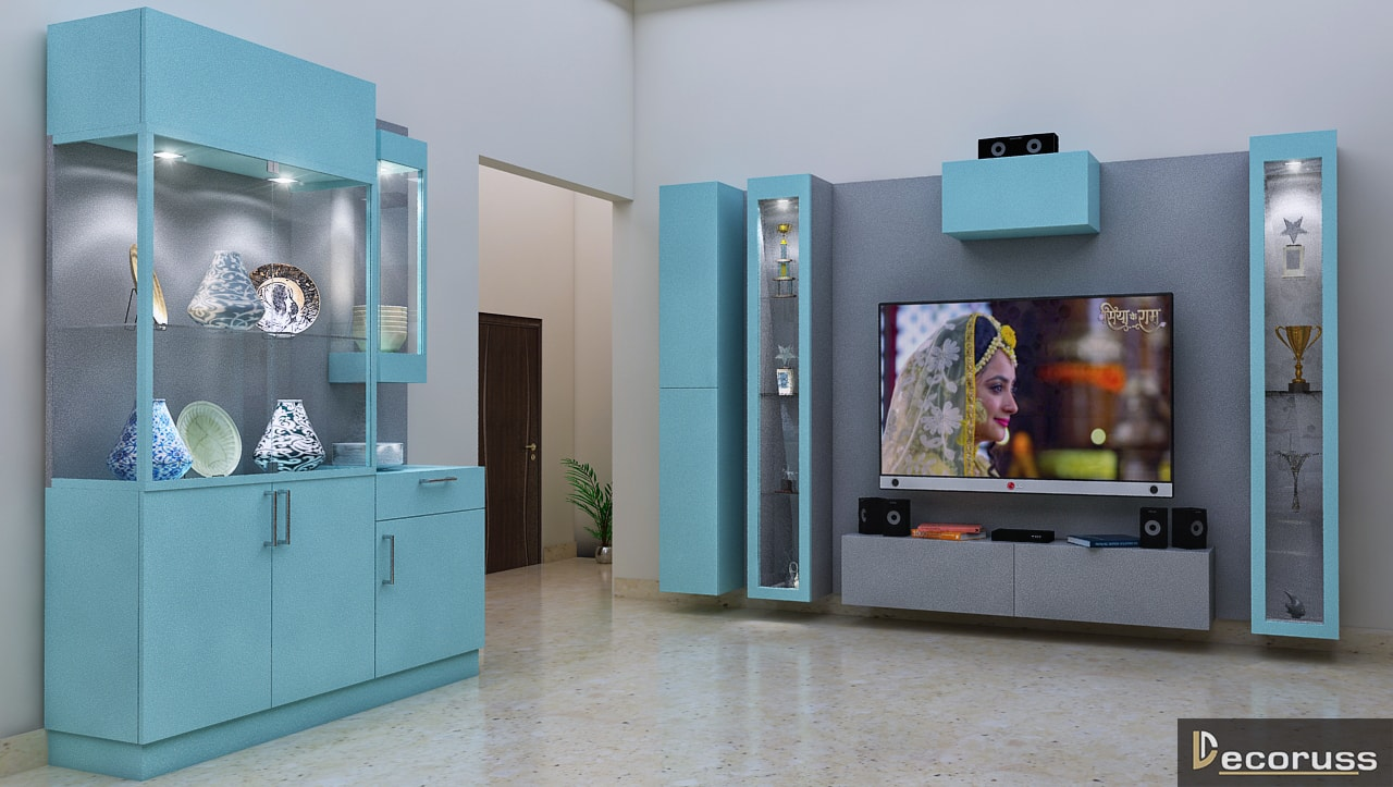 3D design and rendering lobby interior design ideas in Lucknow